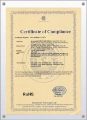 RoHS certificate for solar controller
