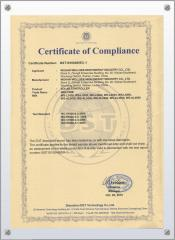 solar light controller internation certificate
